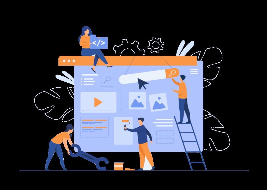 Cercle Digital equipo construyendo página web